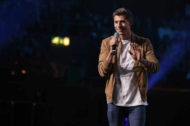 Sam Black performing on The X Factor 2017 (ITV Pictures, JG)
