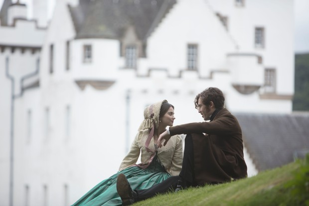 Jenna Coleman as Queen Victoria and Tom Hughes as Prince Albert in Scotland for ITV's Victoria