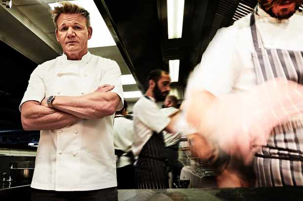 gordon ramsay radio times shoot
