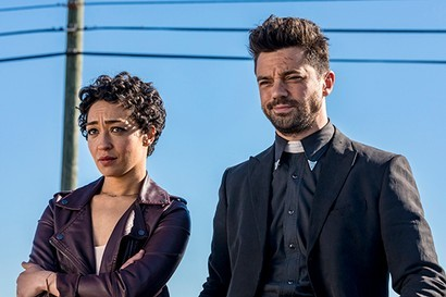 Dominic Cooper and Ruth Negga in Preacher