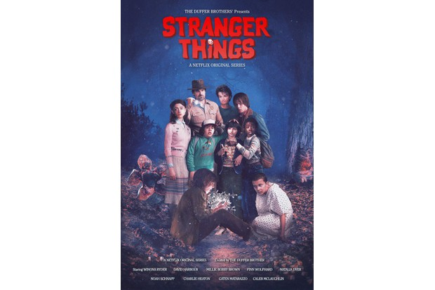 The Stranger Things poster based on The Goonies' own (Netflix, HF)