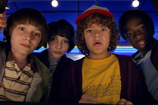 An image of the four boys from Stranger Things