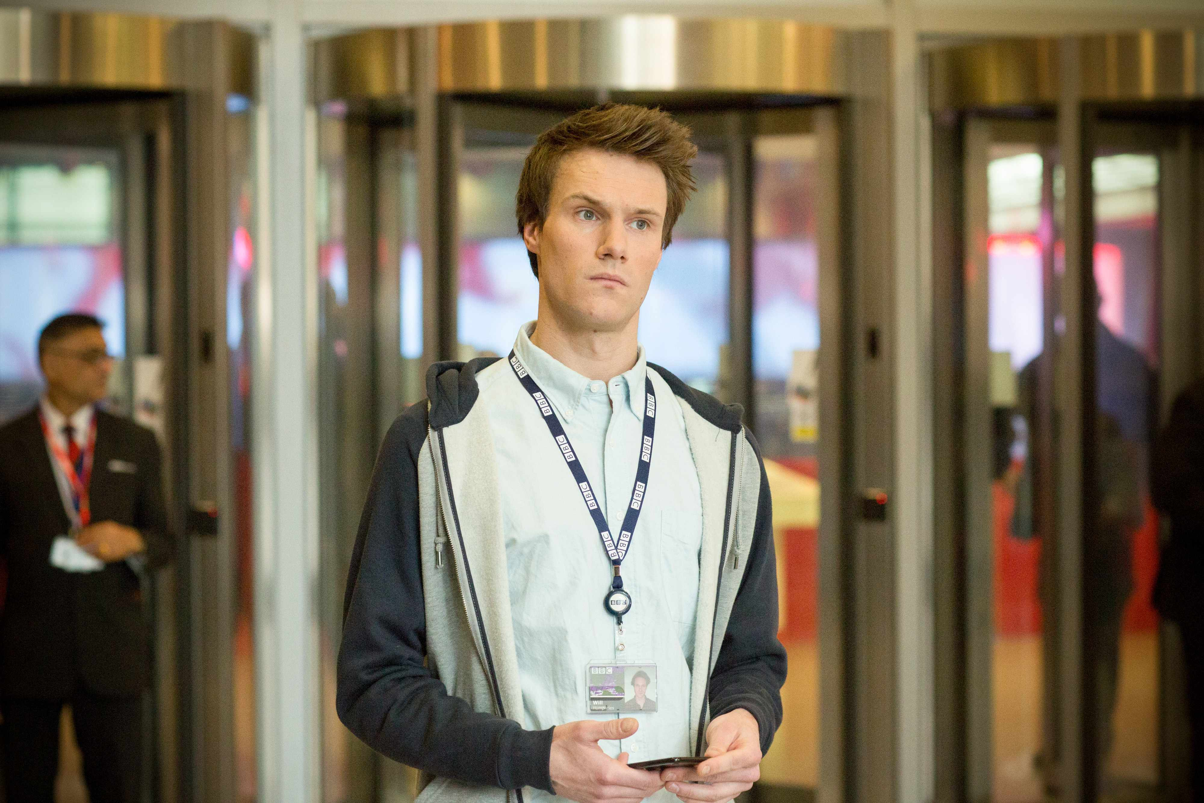 Hugh Skinner as Will Humphries W1A (BBC Pics Desk email, EH)