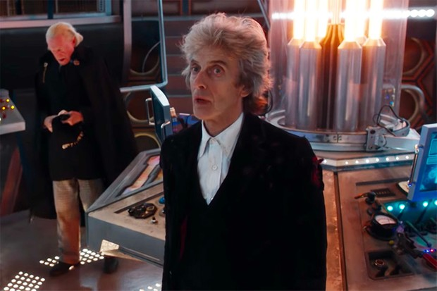 peter capaldi and david bradley in twice upon a time bbc hf