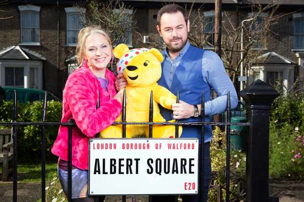 Programme Name: BBC Children In Need 2017 - TX: 17/11/2017 - Episode: Children In Need EastEnders Special (No. n/a) - Picture Shows:  Linda Carter (KELLIE BRIGHT), Mick Carter (DANNY DYER) - (C) BBC - Photographer: Jack Barnes
