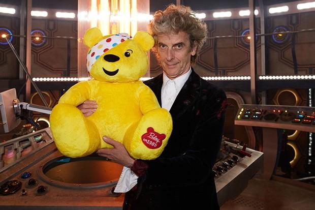 Peter Capaldi and Pudsey (BBC, HF)