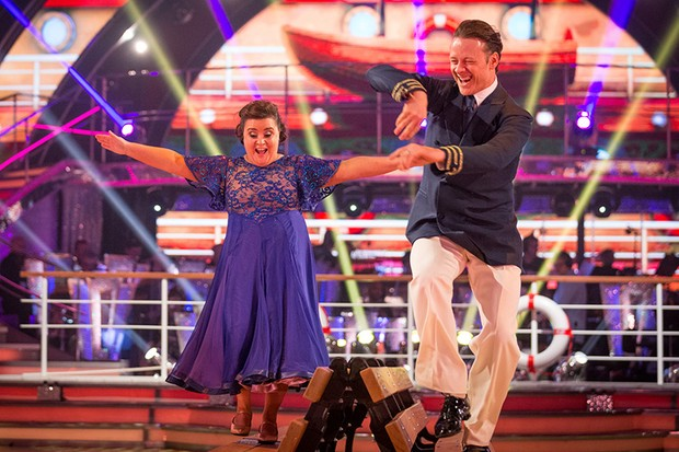 Susan Calman and Kevin Clifton in Strictly Come Dancing