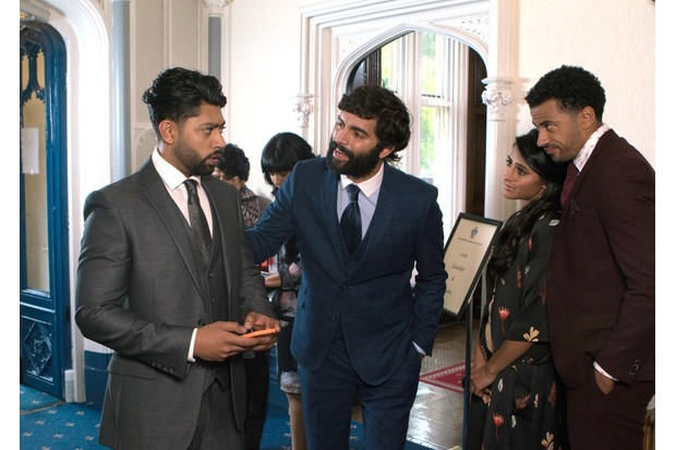 Imran (Charlie de Melo, centre) makes his Corrie debut on Friday