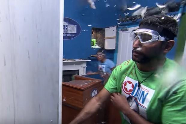 Amir Khan takes on the I'm A Celeb Fright House challenge
