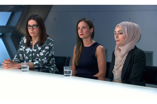 The Apprentice 2017: Elizabeth, Sarah and Bushra in the boardroom