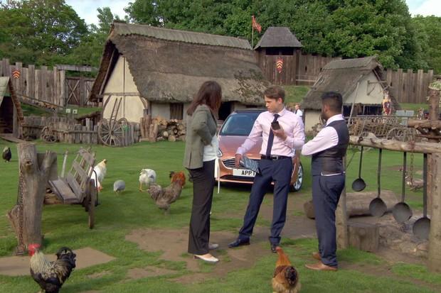 The Apprentice Sajan, Elizabeth and James in episode 7 in 2017