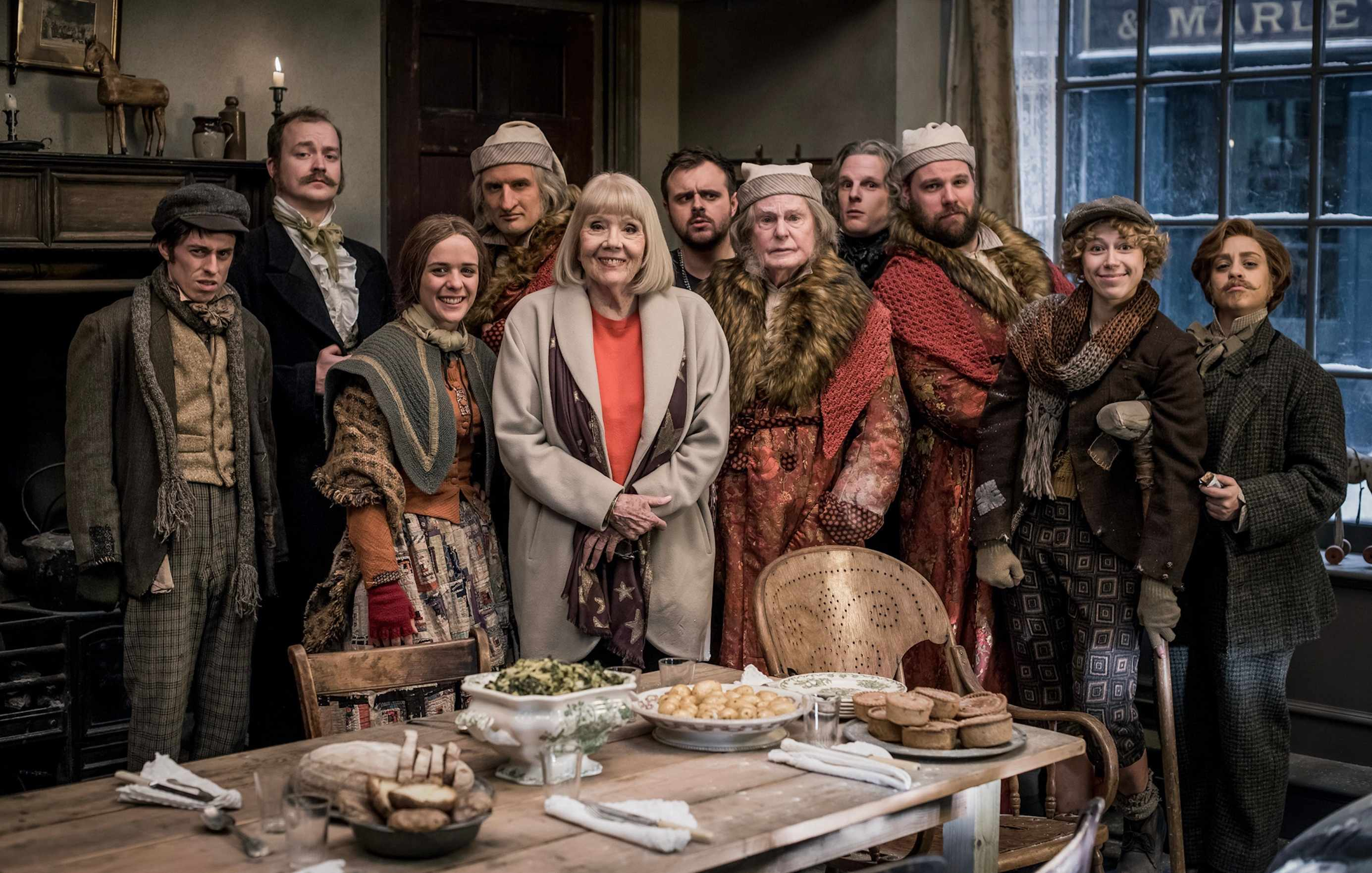 The Cast of A Christmas Carol Goes Wrong (BBC BD)