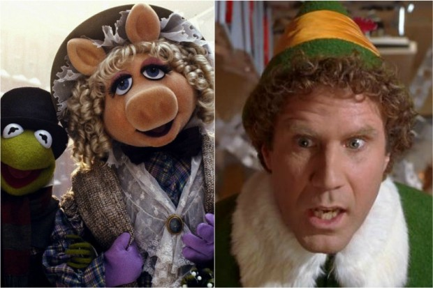 Muppet Christmas Carol and Elf
