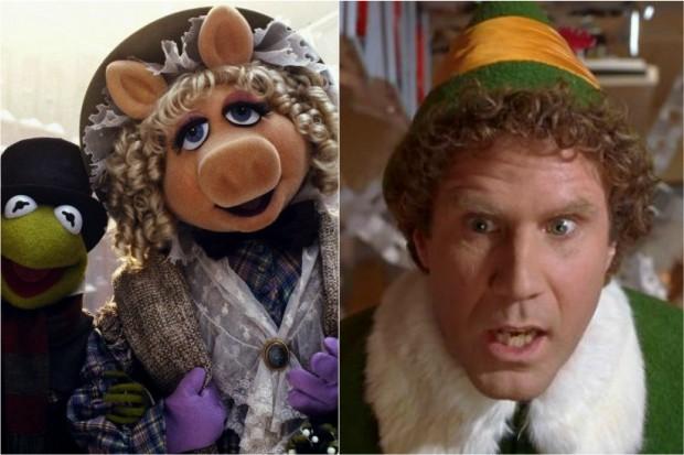 Muppet Christmas Carol and Elf