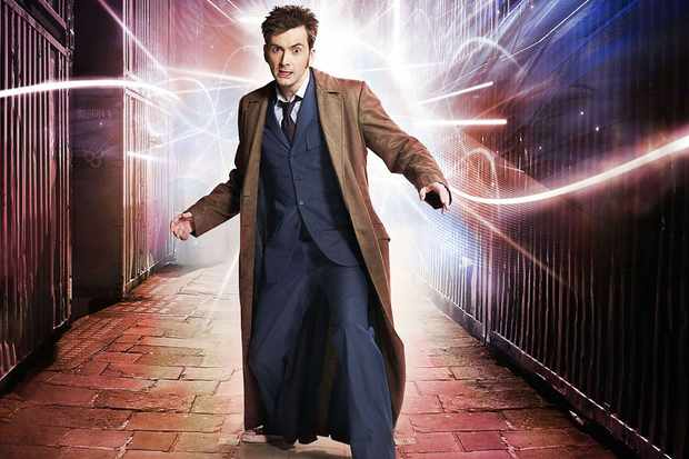 david tennant dug out his doctor who costume and reunited with