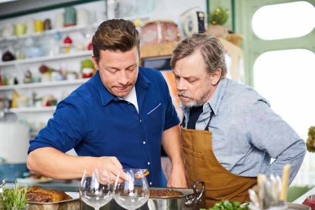 Jamie Oliver and Mark Hamill