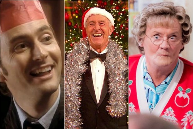 The Doctor, Len Goodman and Mrs Brown at Christmas