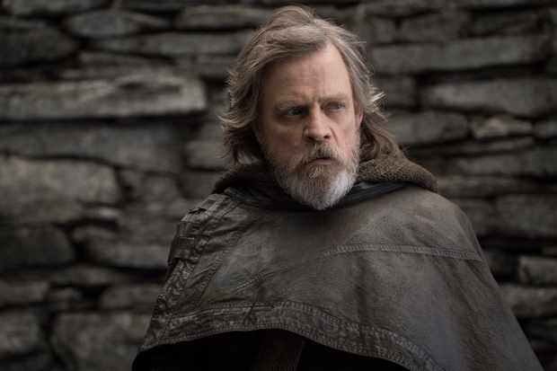 Luke Skywalker (Mark Hamill) in Star Wars:  The Last Jedi (Lucasfilm, JG)