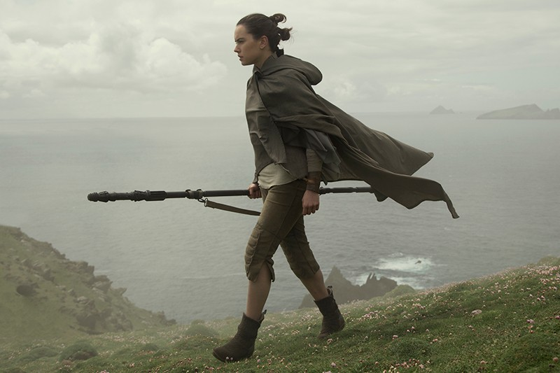 Rey (Daisy Ridley) finds Luke Skywalker on Ahch-To (LucasFilm, HF)
