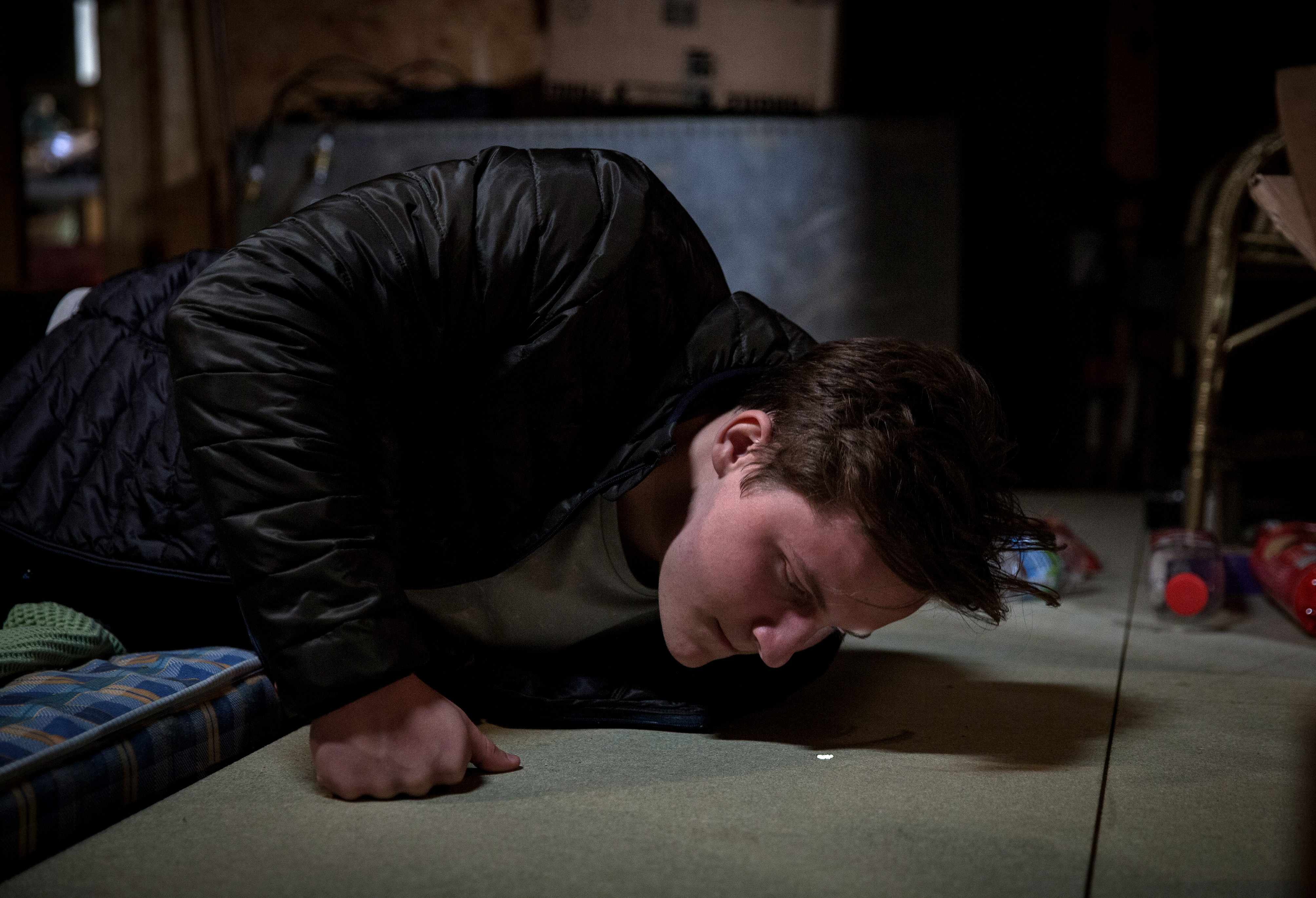 FROM ITV   STRICT EMBARGO  Print media - No Use Before Tuesday 14th November 2017 Online Media -  No Use Before Tuesday 14th November 2017  Emmerdale - Ep 7994  Tuesday 21st November 2017  Lachlan is hiding up in the attic and is secretly watching his family.  From his hiding place Lachlan then hears Rebecca talk about Rug Tree Bonds with Robert and is sickened to know she knows about his scam.)  Picture contact - david.crook@itv.com  Photographer - Amy Brammall  This photograph is (C) ITV Plc and can only be reproduced for editorial purposes directly in connection with the programme or event mentioned above, or ITV plc. Once made available by ITV plc Picture Desk, this photograph can be reproduced once only up until the transmission [TX] date and no reproduction fee will be charged. Any subsequent usage may incur a fee. This photograph must not be manipulated [excluding basic cropping] in a manner which alters the visual appearance of the person photographed deemed detrimental or inappropriate by ITV plc Picture Desk. This photograph must not be syndicated to any other company, publication or website, or permanently archived, without the express written permission of ITV Plc Picture Desk. Full Terms and conditions are available on the website www.itvpictures.com