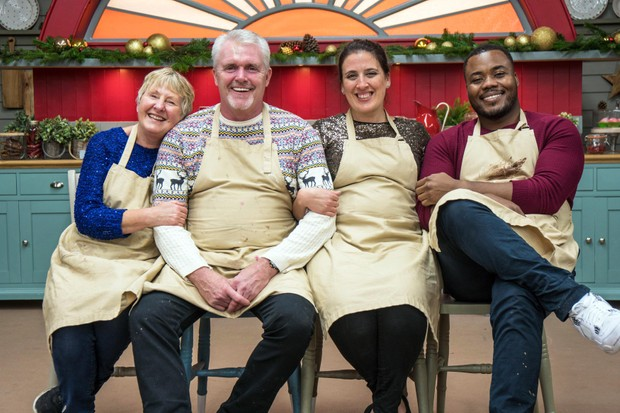 The Great British Bake Off Christmas Special - (Val, Paul, Becca and Selasi)