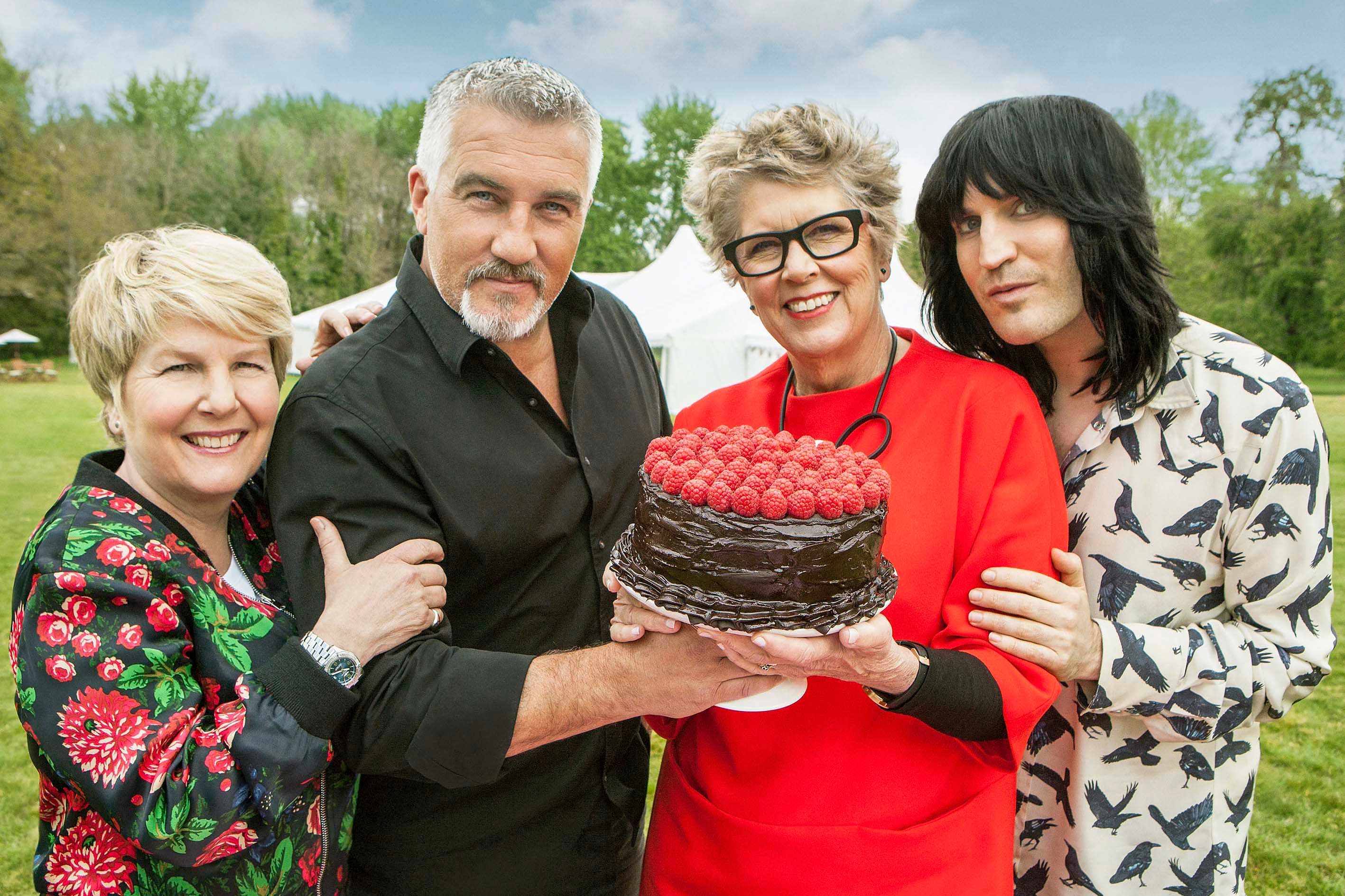 Great British Bake Off 8: - Sandi, Paul, Prue and Noel (Channel 4, JG)