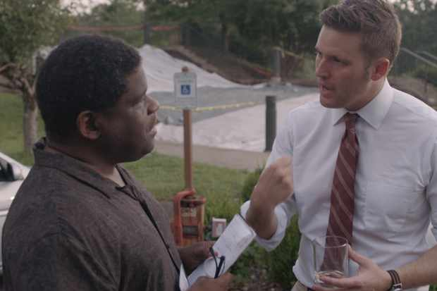 Gary Younge with Richard Spencer.