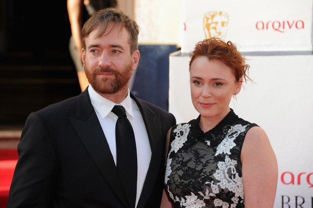 Keeley Hawes and Matthew Macfadyen at the TV Baftas (Getty, TL)
