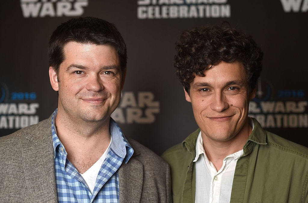 "LONDON, ENGLAND - JULY 17:  Chris Miller (L) and Phil Lord, directors of ""Untitled Han Solo Star Wars Story"", attends the Star Wars Celebration 2016 at ExCel on July 17, 2016 in London, England.  (Photo by Ben A. Pruchnie/Getty Images for Walt Disney Studios, BA)"
