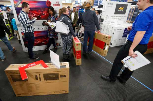 Black Friday TV shopping. Getty Images, TG