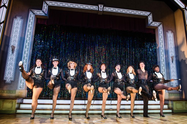 Marvin (right) and the cast of Stepping Out including ex-Emmerdale star Nicola Stephenson (Getty)