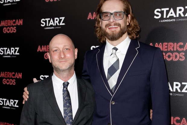 HOLLYWOOD, CA - APRIL 20:  Michael Green and Bryan Fuller attend the premiere of Starz's 'American Gods' at ArcLight Cinemas Cinerama Dome on April 20, 2017 in Hollywood, California.  (Photo by Tibrina Hobson/Getty Images, BA)