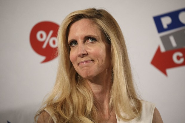 Author Ann Coulter listens during a panel discussion at the Politicon convention inside the Pasadena Convention Center in Pasadena, California, U.S., on Saturday, July 29, 2017. During the third annual Politicon pundits, politicians, comedians and entertainers gather to discuss issues that touch all sides of the political spectrum. Photographer: Patrick T. Fallon/Bloomberg via Getty Images (BA)