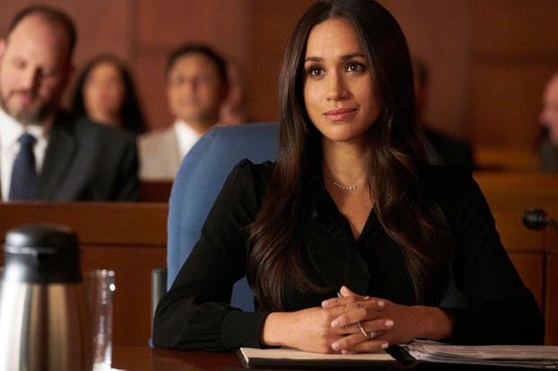 "SUITS -- ""Shame"" Episode 709 -- Pictured: Meghan Markle as Rachel Zane -- (Photo by: Ian Watson/USA Network/NBCU Photo Bank via Getty Images, BA)"