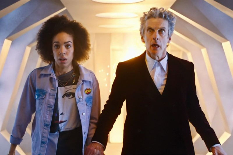 Pearl Mackie and Peter Capaldi in Doctor Who (BBC, HF)