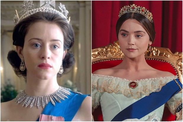 The Crown's Claire Foy and Victoria's Jenna Coleman
