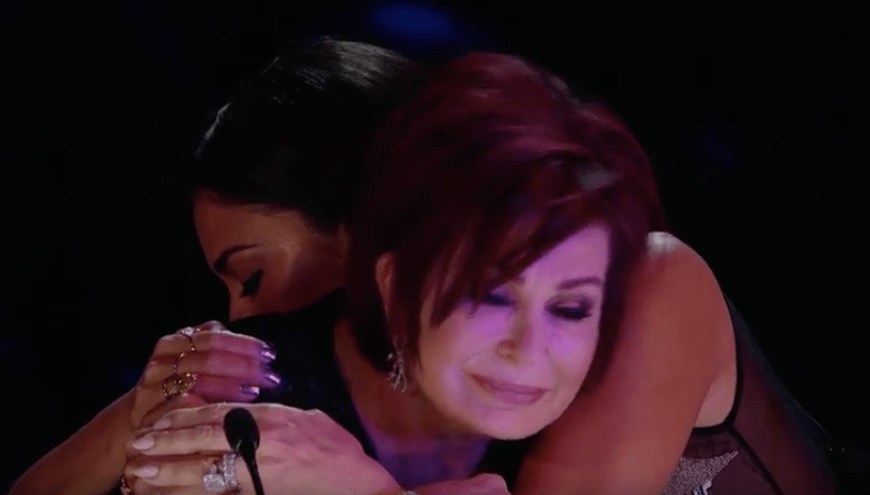 Nicole hugs Sharon Osbourne X Factor George Michael Week
