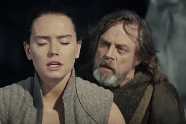 Luke and Rey in Tempt Last Jedi TV spot  https://youtu.be/44szOPIixaU?t=15s