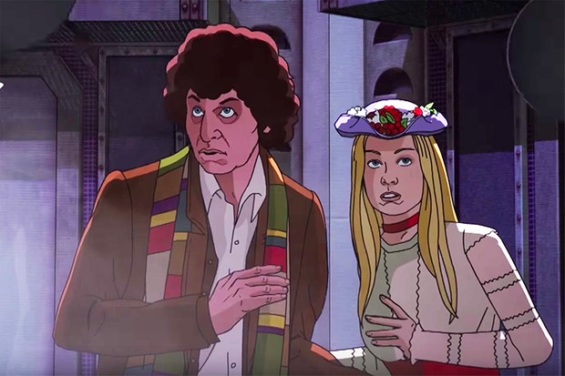 Tom Baker and Lalla Ward in Shada
