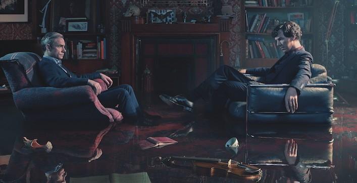 Sherlock s4 flooded baker street rooms