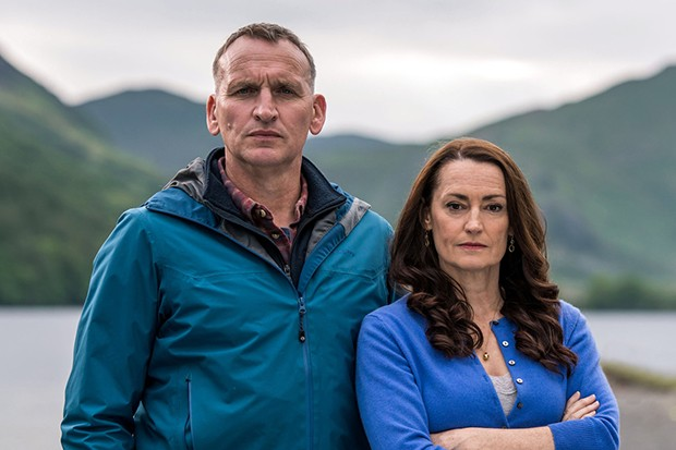 Christopher Eccleston and Pooky Quesnal as Maurice and Louise in The A Word