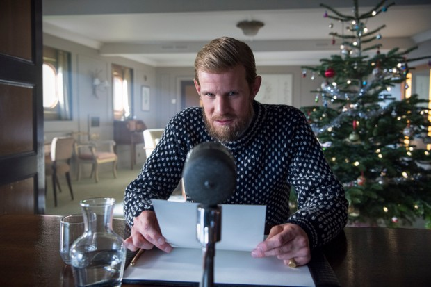 Prince Philip prepares to deliver his Christmas address in The Crown season 2 (Netflix, JG)