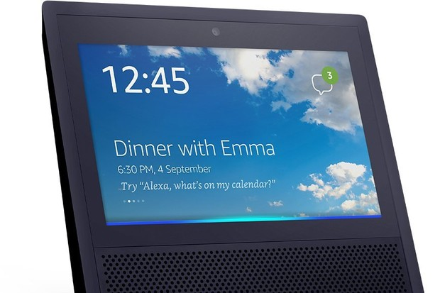 Amazon Echo Show on sale in the UK. Amazon, TG
