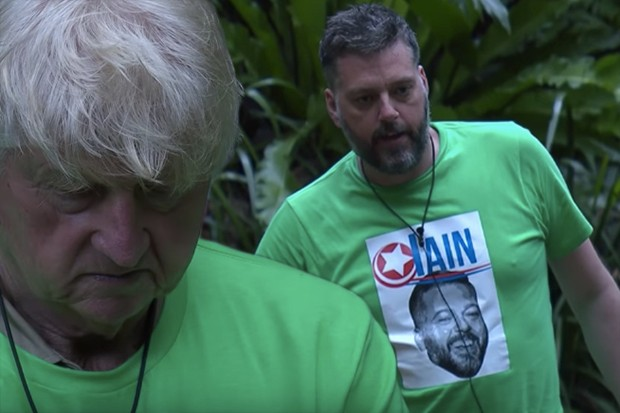 Stanley Johnson and Iain Lee clash in I'm A Celeb 2017