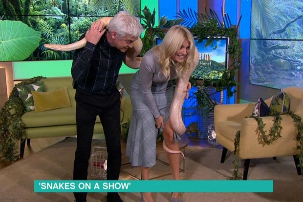 Holly Willoughby snake on This Morning