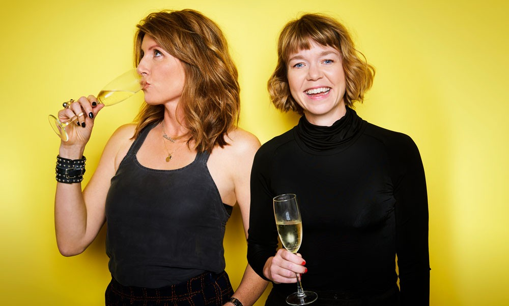 Sharon Horgan with Motherland star Anna Maxwell Martin (Radio Times, TL)