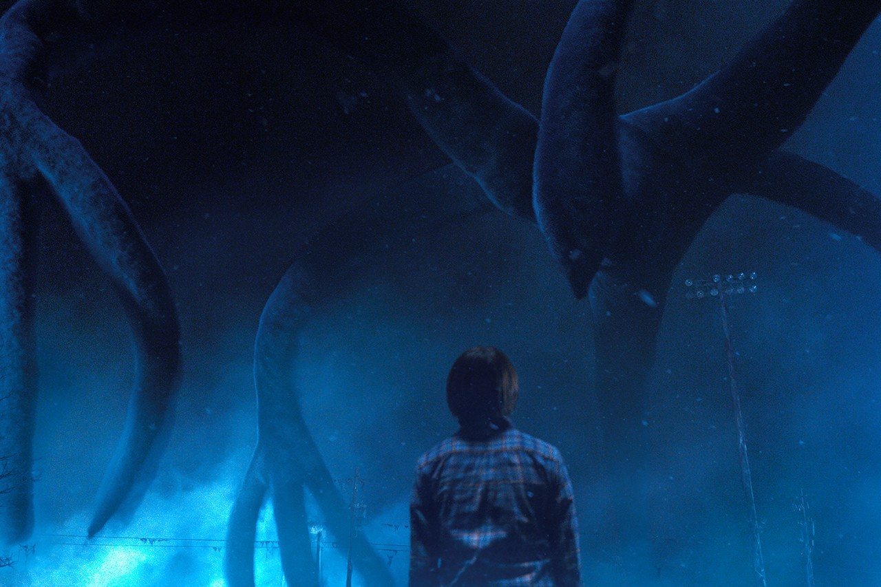 Will confronts the Mind Flayer in Stranger Things 2 (Netflix, JG)