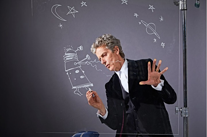 Peter Capaldi draws a Dalek for Radio Times in 2016