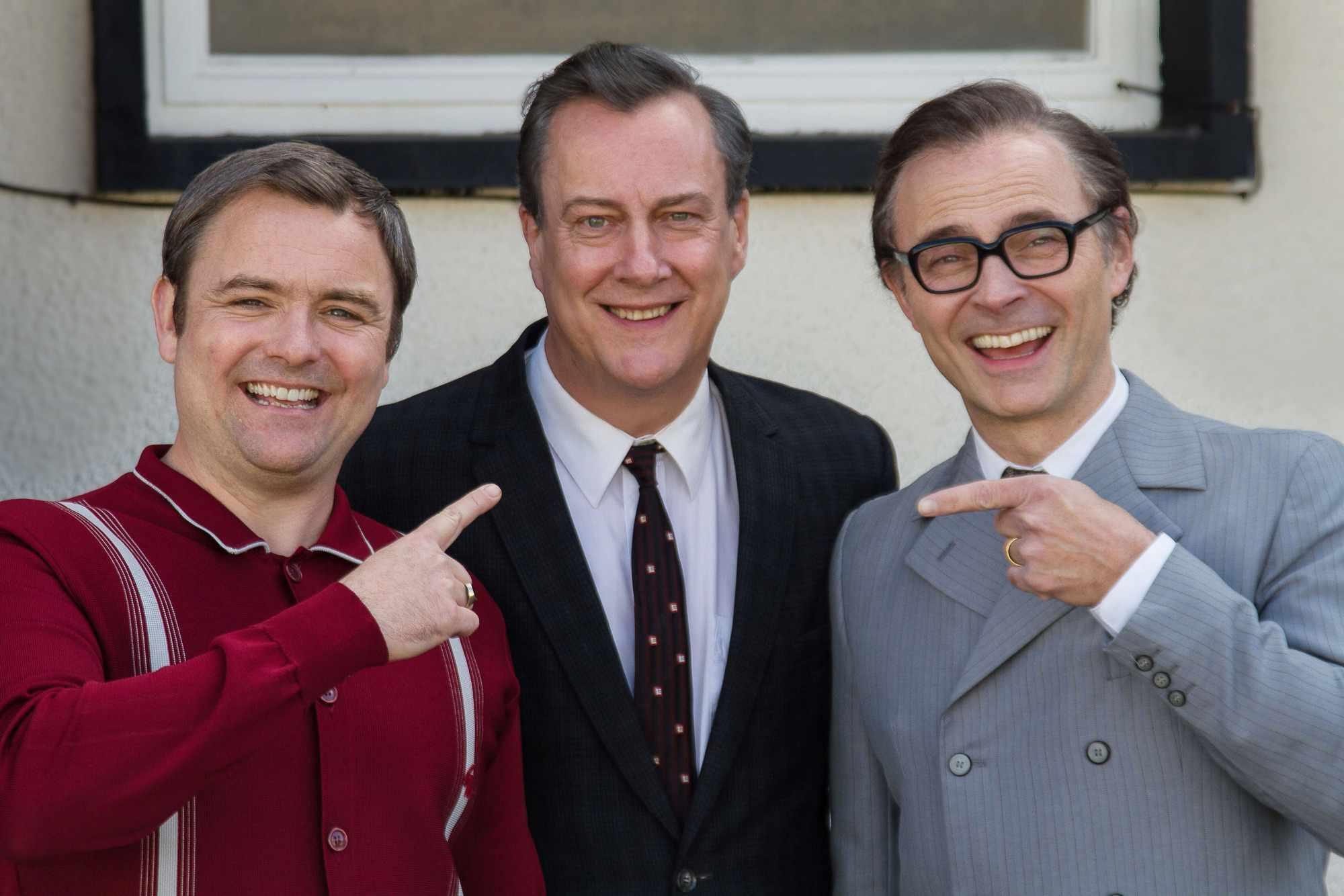 Ernie Wise (NEIL MASKELL), Eddie Braben (STEPHEN TOMPKINSON), Eric Morecambe (MARK BONNAR) Ernie, Eric and Me (BBC, TL)