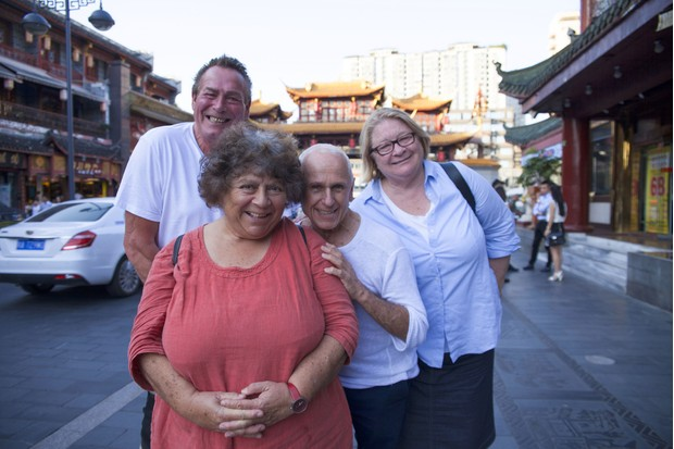 Bobby George, Miriam Margolyes, Wayne Sleep, Rosemary Shrager (BBC, TL)